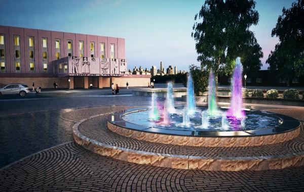 Реконструкция фонтана и благоустройство прилегающий территории по ул. Чайковского 1, в г. Усть-Илимске